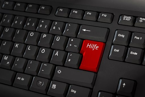 Help, Keyboard, Red, Keys, Computer Keyboard