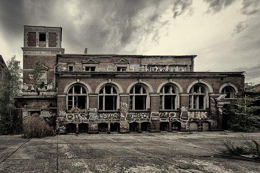 Building, Industry, Broken, Lapsed, Leave