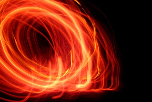 Fire, Night, The Flame, An Outbreak Of, Light