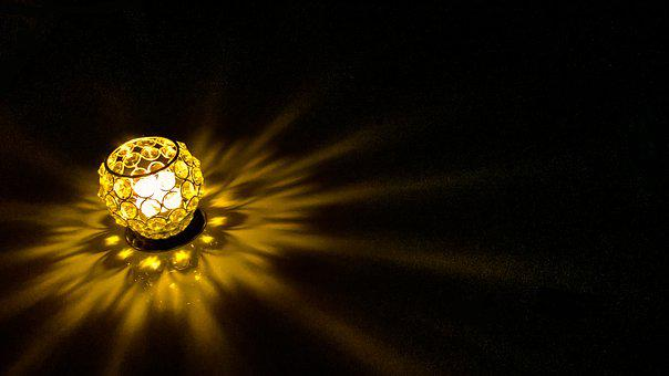 Light, Glow, Decoration, Shiny, Bright, Gold, Yellow