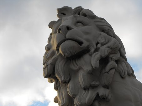 Lion, Stone, Statue, Animal, Old, Monument, Landmark