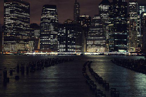 Night Photography, Manhattan, New York City
