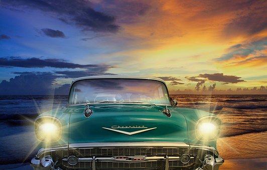 Classic, Car, Vehicle, Retro, Vintage, Auto, Old