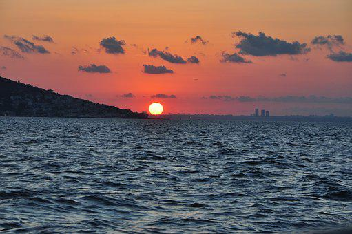 Landscape, Islands, V, Sunset, Background, Marine