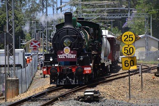 Train, Railway, Steam, Transportation, Travel, Railroad