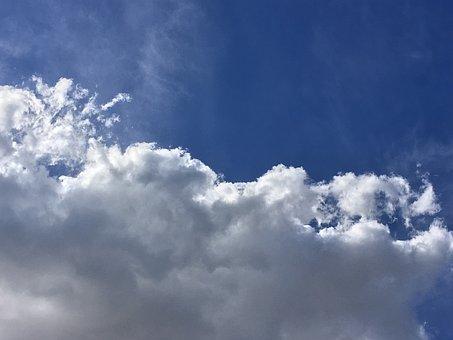 Cloud, White, White Clouds, Sky, Blue, Storm, Cotton