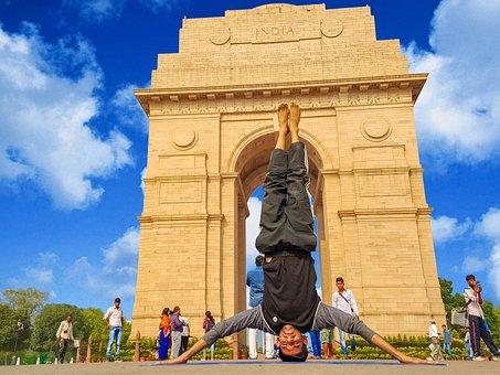 Yoga, India, Sky, Clouds, Asana, Yoga Pose