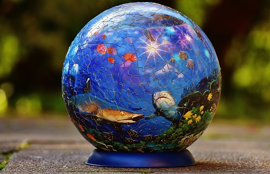 Puzzle Ball, Underwater World, Fish, Shark Puzzle, Play
