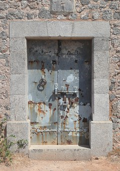 Old Door, Weathered, Mallorca Port De Soller, Stainless