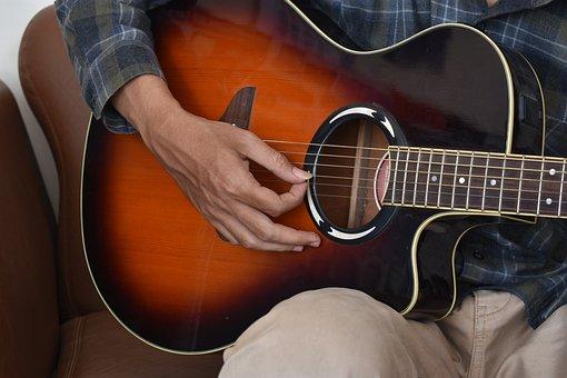 Guitarist, Musician, Acoustic, Guitar, Record, Studio