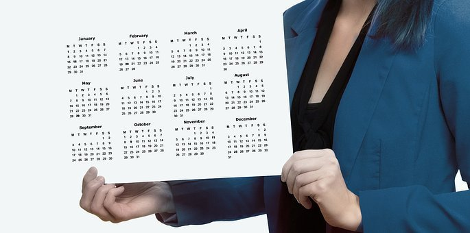 Agenda, Calendar, Woman, Businesswoman, Presentation