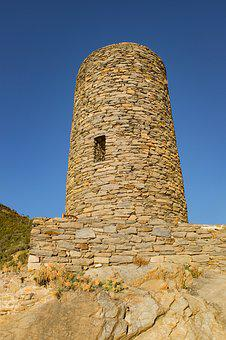 Tower, Ancient, Stone, Medieval, Cinque Terre, Historic
