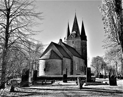 All Saints, Church, Middle Ages, Medieval, Husaby, Arn