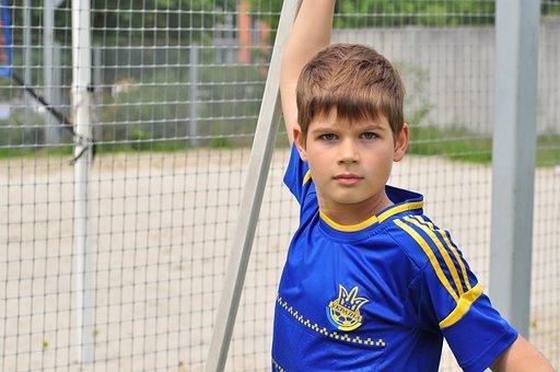 Boy, Baby, Soccer Field, Football, Football Ground
