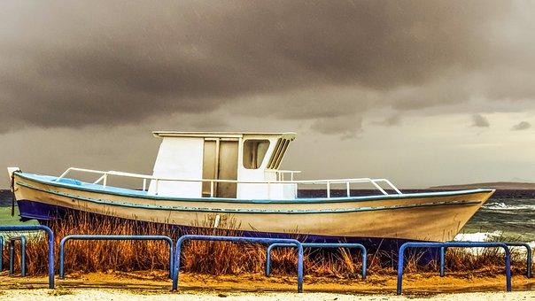 Cyprus, Ayia Napa, Ammos Tou Kampouri, Beach, Boat