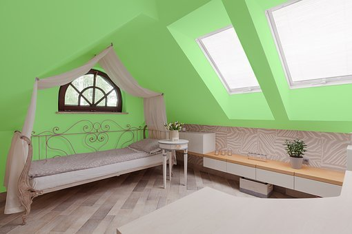 Green, Bedroom, House, Bed, Apartment, Home, Room