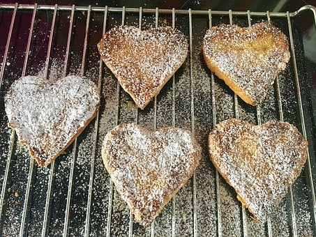 Bake, Heart, Biscuit, Eat, Cookie, Small Cakes