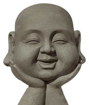 Buddha, Laugh, Fun, Sculpture, Stone Figure, Funny