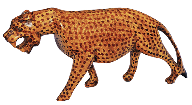 Leopard, Holzfigur, Carving, South Africa, Hand Carved