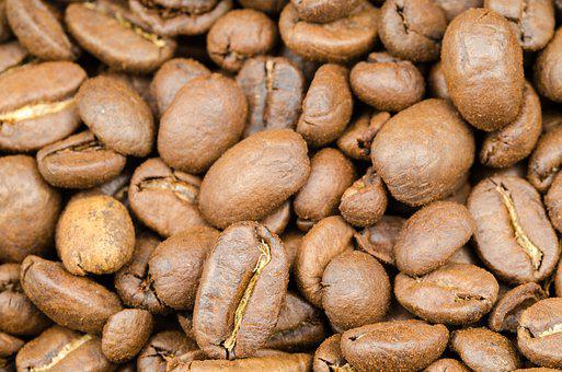 Coffee, Brown, Caffeine, Seed, Background, Black