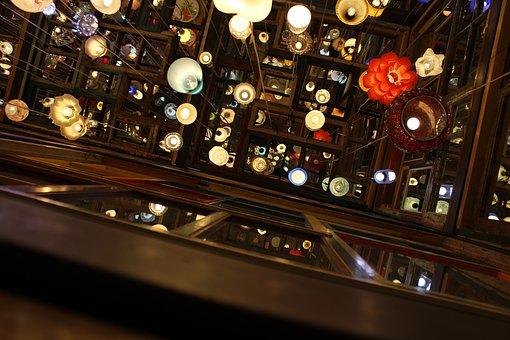 Reflection, Lamps, Colors, Composition, Lights, Color