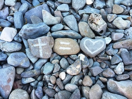 The Stones, Cross, Heart, Love, Pebbles