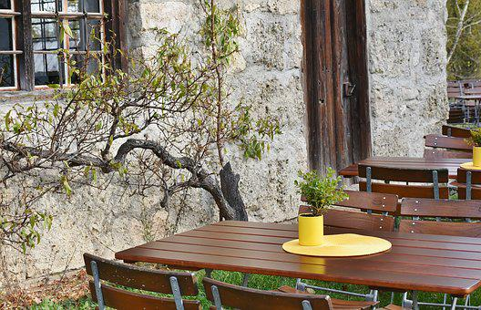 Eat, Drink, Autumn, Beer Garden, Chairs, Dining Tables