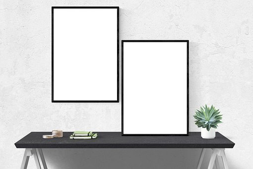 Mockup, Wall, Poster, Mock, Frame, Template, Interior