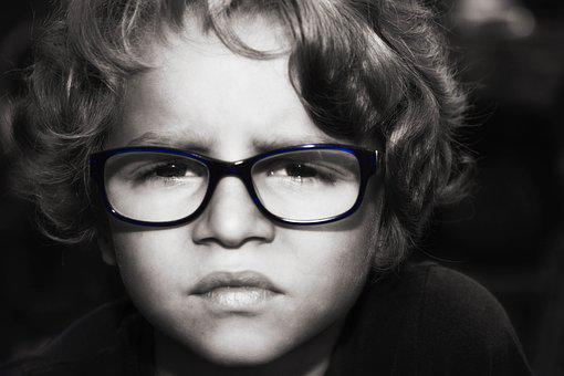 Boy, Stare, Young, Glasses, Spectacles