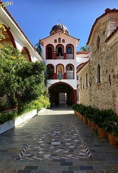 Monastery, Summer, Greece