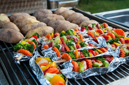 Barbecue, Vegetarian, Grill, Food, Vegan, Vegetables