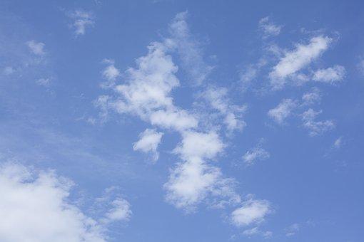Sky, Blue, Cloud, White, Clouds, Landscape, Background