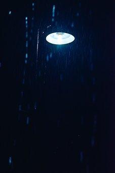 Rainy, Light, Lamp, Night, Cool