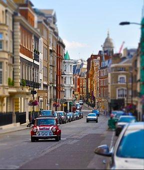 Mini Cooper, Mini, London, City, Street, Cooper