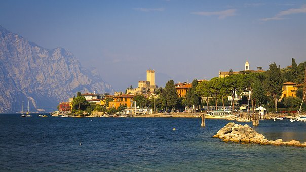 Castle, Malcesine, Garda, Italy, Holiday