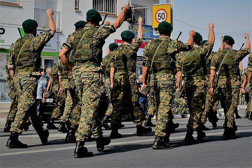 Soldiers, Uniform, Military, Army, Armed, Marching