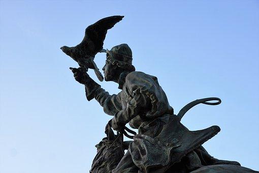 Monument, Statue, Menton, France, Bird, Sculpture