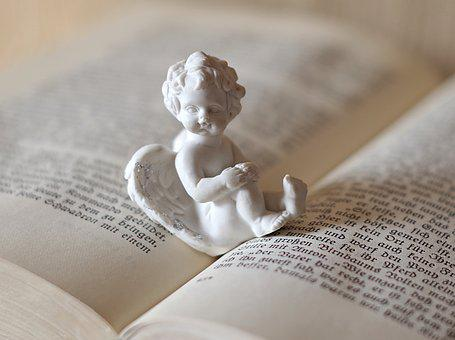 Angel, Love, Reading, Book, Old Text, Neo-gothic