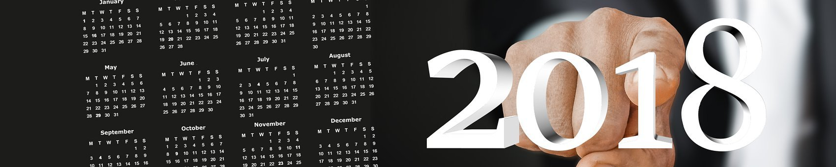 Calendar, Photoshop, Levels, New Year's Day