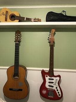 Instruments, Guitar, Ukulele, Old Guitar, Acoustic
