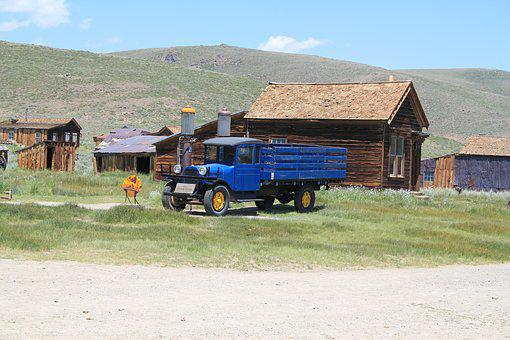 Bodie, Old, Truck, Vintage, Vehicle, Retro, Auto