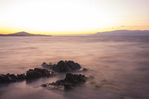 Landscape, Marine, Rocks, Water, Horizon, Beach, Peace