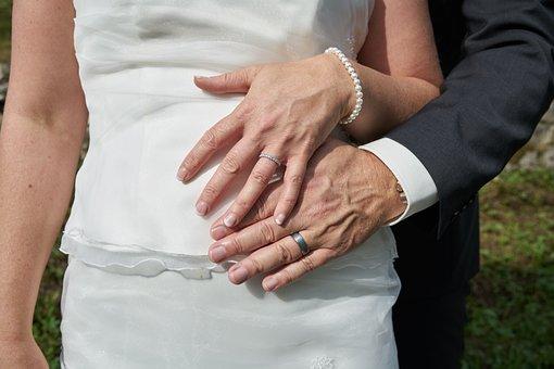 Woman, Man, Wedding, Strauss, Rings, Marry, Love