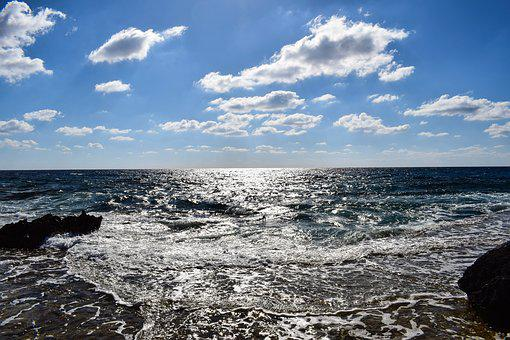 Sea, Wave, Beach, Sky, Clouds, Ocean, Blue, Scenery