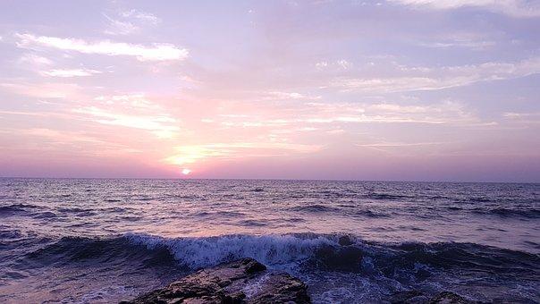 Beach, Sunset, Silver
