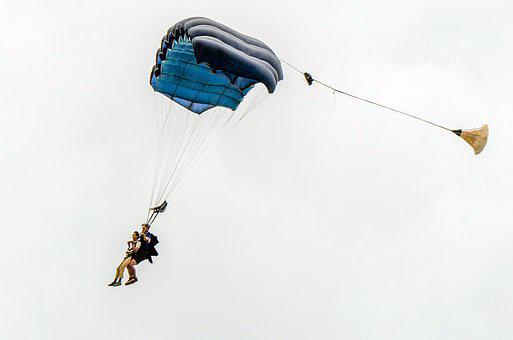 Parachute, Fly, Sky, Sport, Extreme, Flight, Air