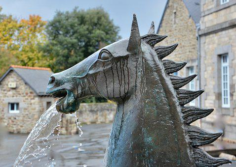 Statue, Statue Horse, Statue Metal, Fountain Water