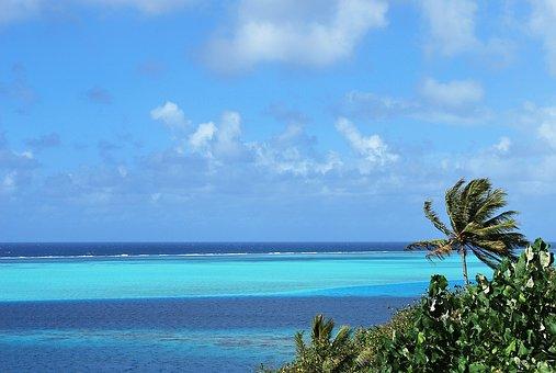 Tahiti, Lagoon, Island Of Huahine, Blue, Pacific