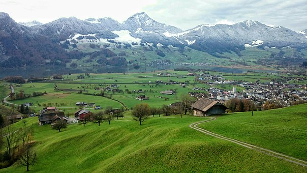 The Cold Season, Snow, Mountains, The Alps, View, Tops