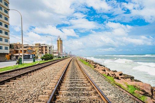 Railway, City, Transport, Train, Urban, Travel